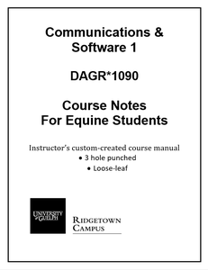 Communications & Software Course Notes (Equine)