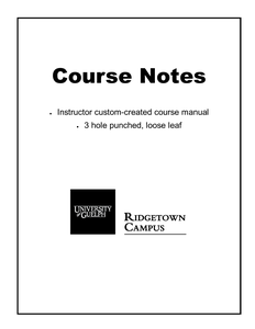 Water Resource Management Course Notes