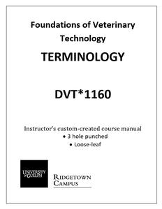 Terminology Manual