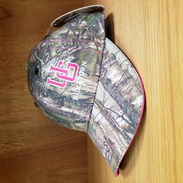 Ball Cap - Camo with Pink