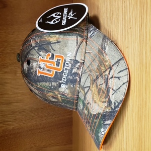 Ball Cap - Camo with Orange